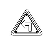 Figure metal emblem warning sign icon Stock Photo