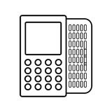 Figure mobile phone related icon. Image, ector illustration Stock Photo