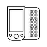Figure mobile phone related icon. Image, ector illustration Stock Photos