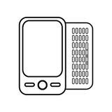 Figure mobile phone related icon. Image, ector illustration Royalty Free Stock Image