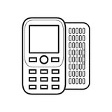 Figure mobile phone related icon. Image, ector illustration Royalty Free Stock Photos