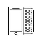 Figure mobile phone related icon. Image, ector illustration Stock Image