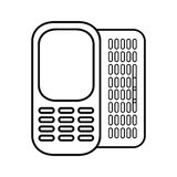 Figure mobile phone related icon. Image, ector illustration Stock Photography