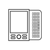 Figure mobile phone related icon. Image, ector illustration Stock Images
