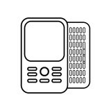Figure mobile phone related icon. Image, ector illustration Royalty Free Stock Images
