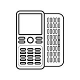 Figure mobile phone related icon. Image, ector illustration Royalty Free Stock Photography