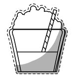 Figure mocha glass icon image Stock Photography