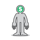 Figure Money Mind Royalty Free Stock Photo