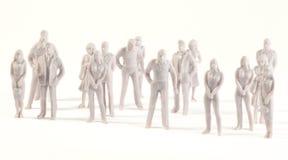 Figure monocromatiche miniatura dell'essere umano Immagine Stock Libera da Diritti