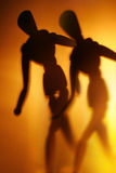 Figure in motion. Blurry silhouette of a figure in motion Royalty Free Stock Images
