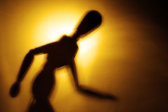 Figure in motion. Blurry silhouette of a figure in motion Stock Image