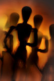 Figure in motion. Blurry silhouette of a figure in motion Stock Images