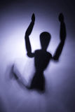 Figure in motion. Blurry silhouette of a figure in motion Stock Photos