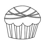 Figure muffin with chocolate icon. Illustration design Stock Image