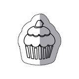 Figure muffin with strawberry icon. Illustraction design Royalty Free Stock Photo
