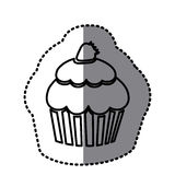Figure muffin with strawberry icon. Illustraction design Royalty Free Stock Image