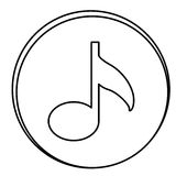 Figure music emblem icon. Illustraction design Royalty Free Stock Photos
