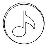 Figure music emblem icon. Illustraction design Royalty Free Stock Photography