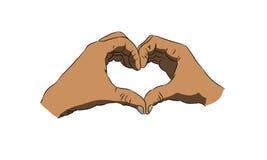 Figure na forma de um coração das mãos Imagens de Stock Royalty Free