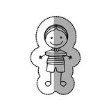 Figure nerd boy icon Stock Images