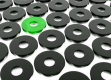 Figure nere astratte dell'anello Fotografia Stock