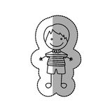 Figure nice boy icon. Illustraction design image Royalty Free Stock Photo