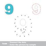 Figure Nine. Vector numbers game. Royalty Free Stock Image