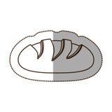 Figure nomal bread icon. Illustraction design image Stock Photos