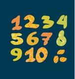 Figure nombres marquant avec des lettres l'illustration de vecteur Photo libre de droits