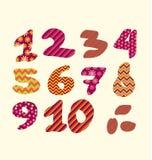 Figure nombres marquant avec des lettres l'illustration de vecteur Photographie stock libre de droits