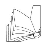 Figure notebook open icon image Royalty Free Stock Photo