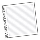 Figure notebook school icon Royalty Free Stock Photos
