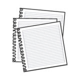 Figure notebooks school icon Royalty Free Stock Image