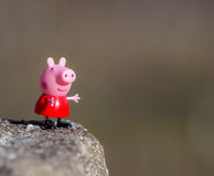 Free Figure Of Pepa Pig From Astley Baker Davies / Entertainment One UK Animations, Stock Images - 80199184