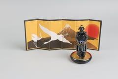 Figure off historic samurai armor. The figure off historic japnese samurai armor Stock Photography