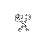 Figure old keys icon stock Stock Image