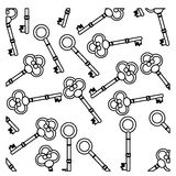 Figure old keys icon stock. Illustration image design Stock Photo