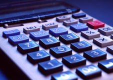 Figure it out. Image the number pad of a calculator Stock Photos