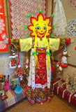 Figure pagan carnival doll with the face in the form of the sun Stock Photography