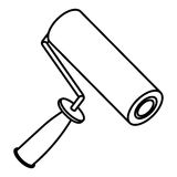 Figure paint roller icon Stock Photo