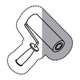 Figure paint roller icon Stock Photography