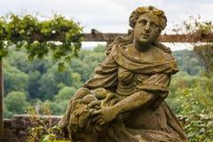 Figure in the park of Rothenburg ob der Tauber Stock Images