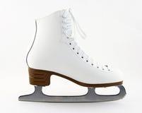Figure patin blanche élégante Photo stock