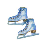Figure patins d'isolement Images stock
