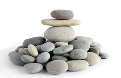 Figure from pebble Stock Images
