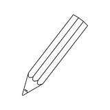 Figure pencil color icon Royalty Free Stock Images