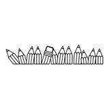 Figure pencil color icon stock. Illustration design image Royalty Free Stock Photography