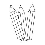 Figure pencil color icon stock. Illustration design image Royalty Free Stock Image