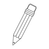 Figure pencil icon stock image. Illustration design Royalty Free Stock Photography