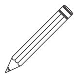 Figure pencil school icon. Illustraction design image Stock Photo